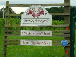 Burnley Vineyards Signage