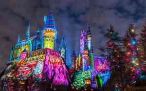 Hogwarts Castle at Christmas Universal Orlando Resort