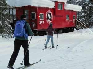 skiing at Isaak Walton Inn