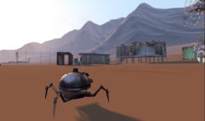 Robot on the run