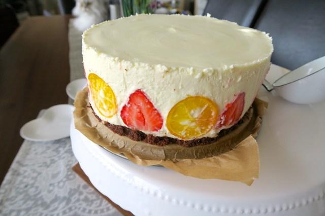 Panna cotta Torte mit Erdbeeren – 06