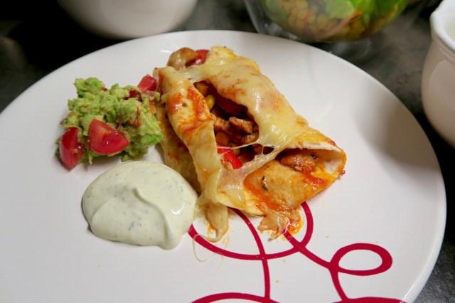 Mexikanische Enchiladas - Angerichtet