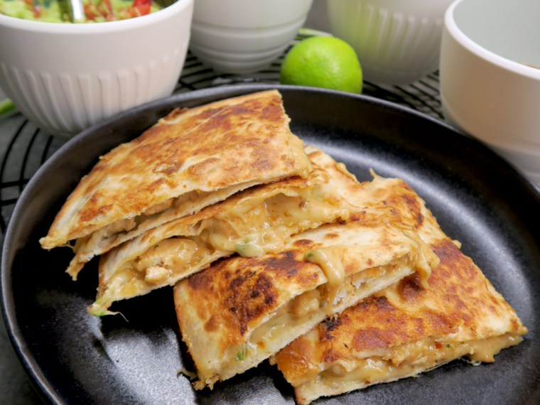 Peanut Butter Chicken Quesadillas