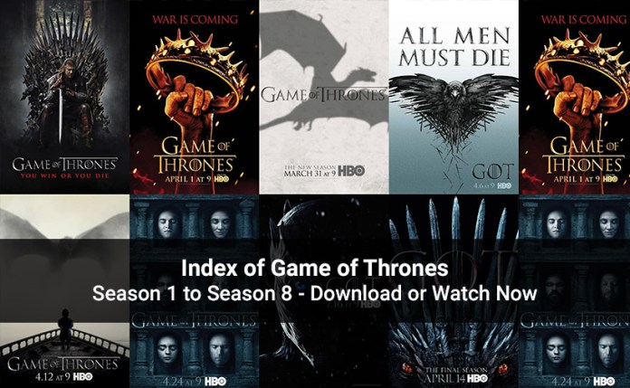 Index of Game of Thrones