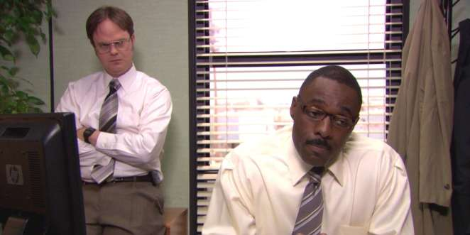 Charles and dwight in the office