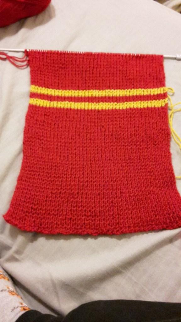 écharpe gryffondor harry potter tricot