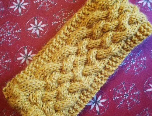 woven cable headband