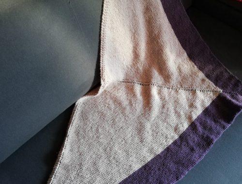 chale grain tricot