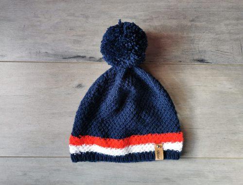 bonnet bleu blanc rouge tricot