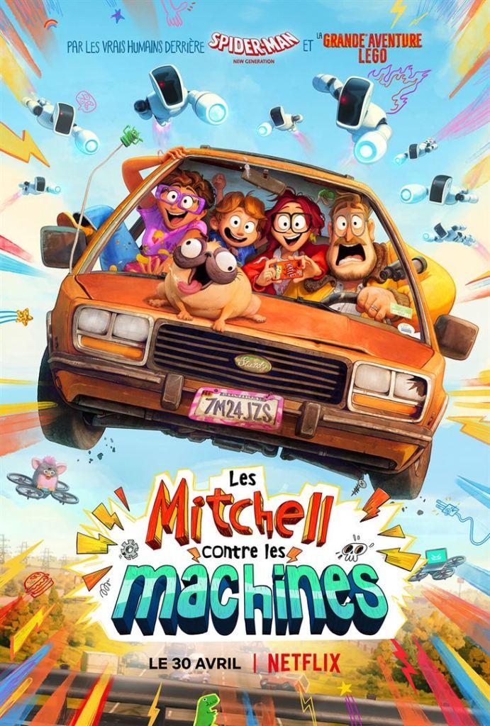Affiche film Les Mitchell contre les machines Netflix