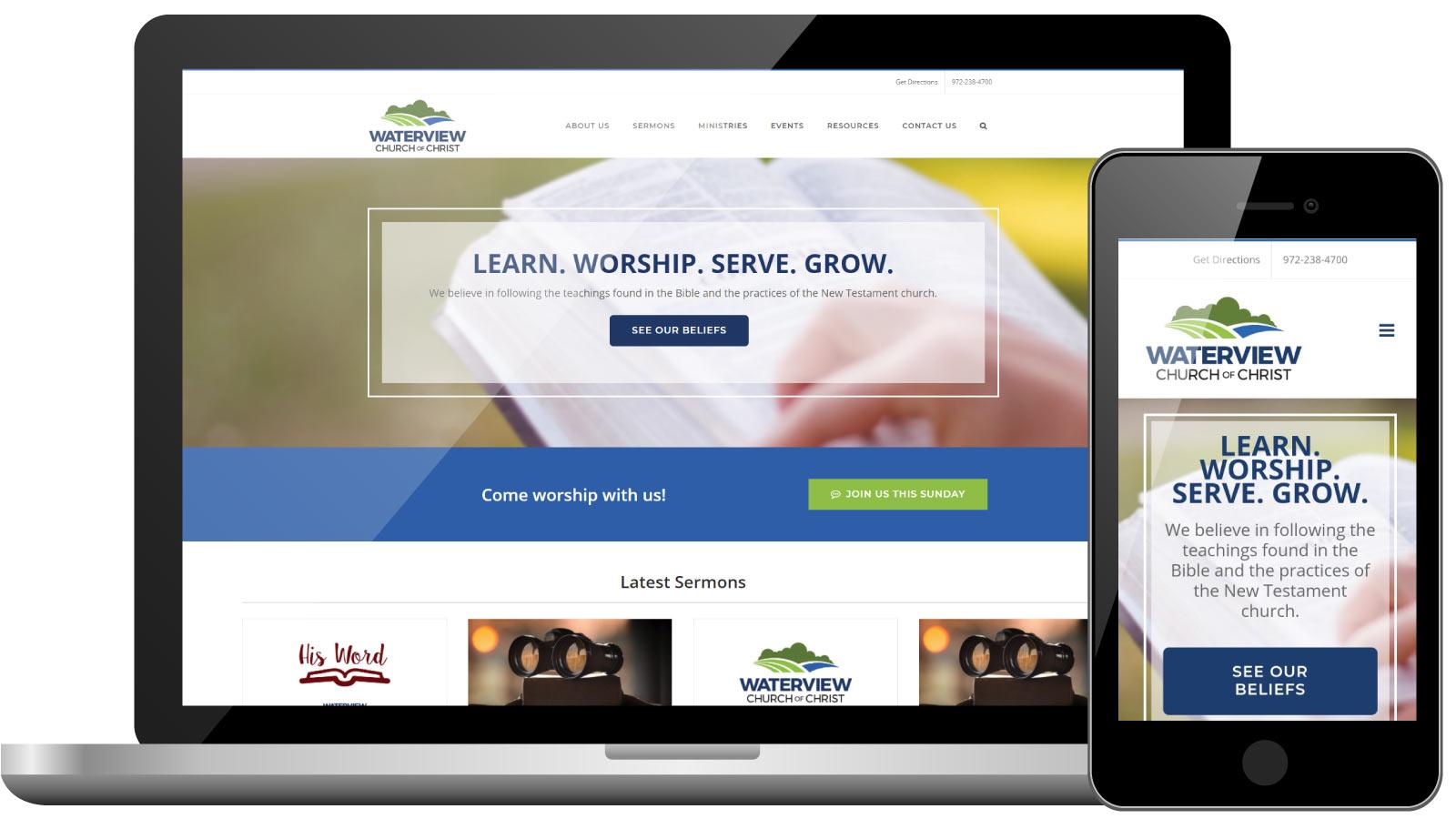 Waterview church of Christ | Church Website Development | Digital Marketing | Bingham Design