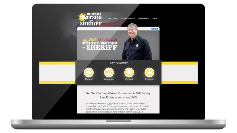 Texas Sheriff Candidate Website Design