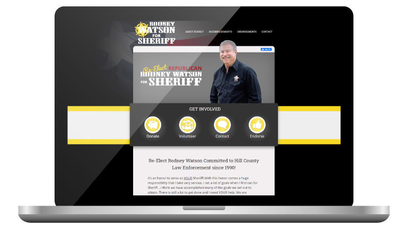 Texas Sheriff Candidate Website Design