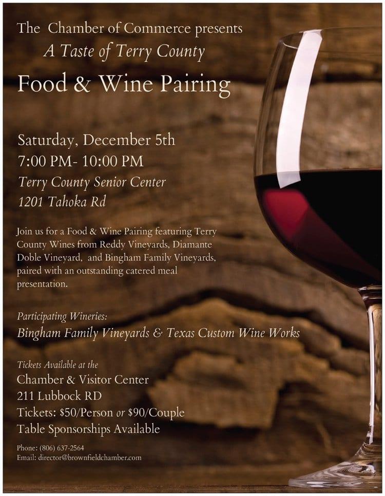 Taste of Terry County Food & Wine Dinner
