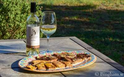 Brunch Grilled Flat Bread and 2019 Marsanne