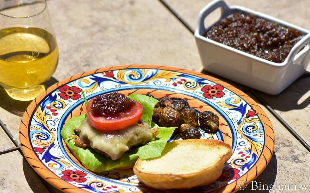 Onion Jam Burgers and 2018 Roussanne