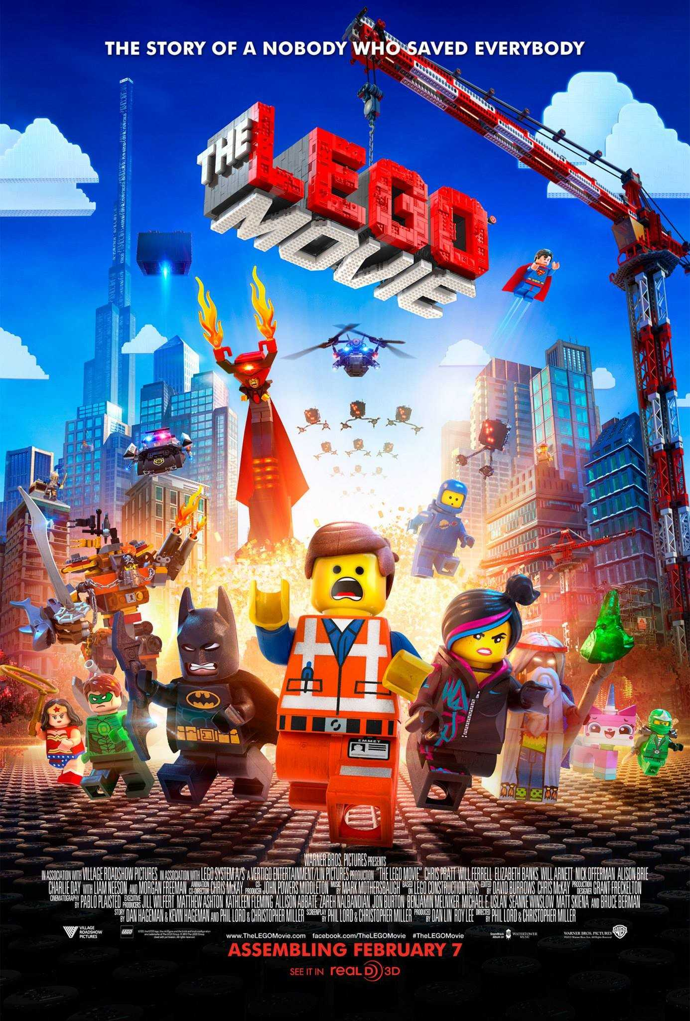 The Lego Movie in theaters now.