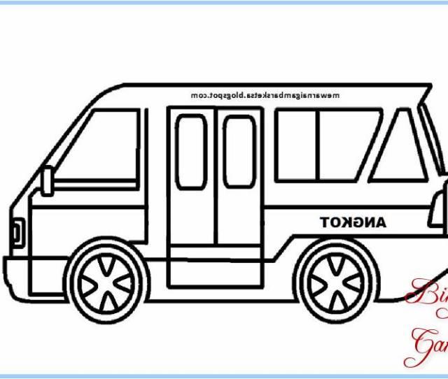 Gambar Sketsa Mobil Sederhana Untuk Di Warnai Bingkaigambar Com