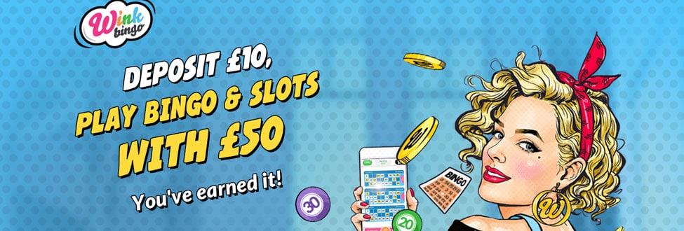 Earn your bingo cashback - DAILY at Wink Bingo
