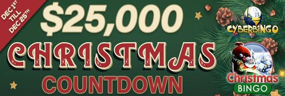 $25,000 Magical Christmas Countdown at Cyber Bingo