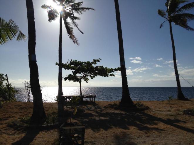 Strand vor meiner Hütte auf Malapascua