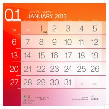 201301 number calendar