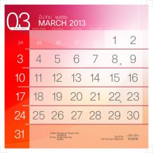 201303 number calendar