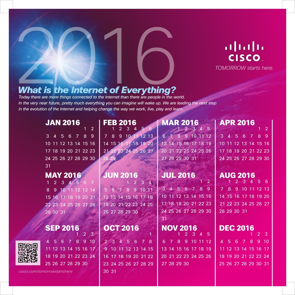 ปฏิทินตั้งโต๊ะ ของ ซิสโก้ประเทศไทย พศ. 2558 (Cisco Systems Thailand Calendar 2015) (3/6)
