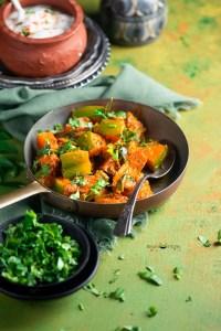 Khatta Meetha Kaddu or Pumpkin Curry
