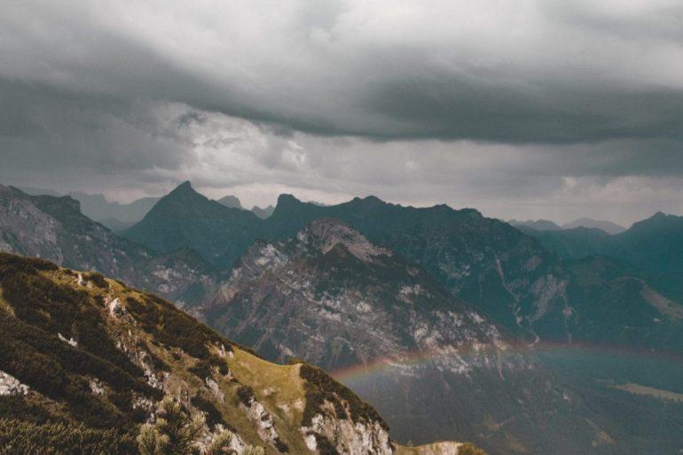 Sonne, Wolken, Gewitter und Regenbogen. Alles was der Bärenkopf am Achensee zu bieten hatte für uns