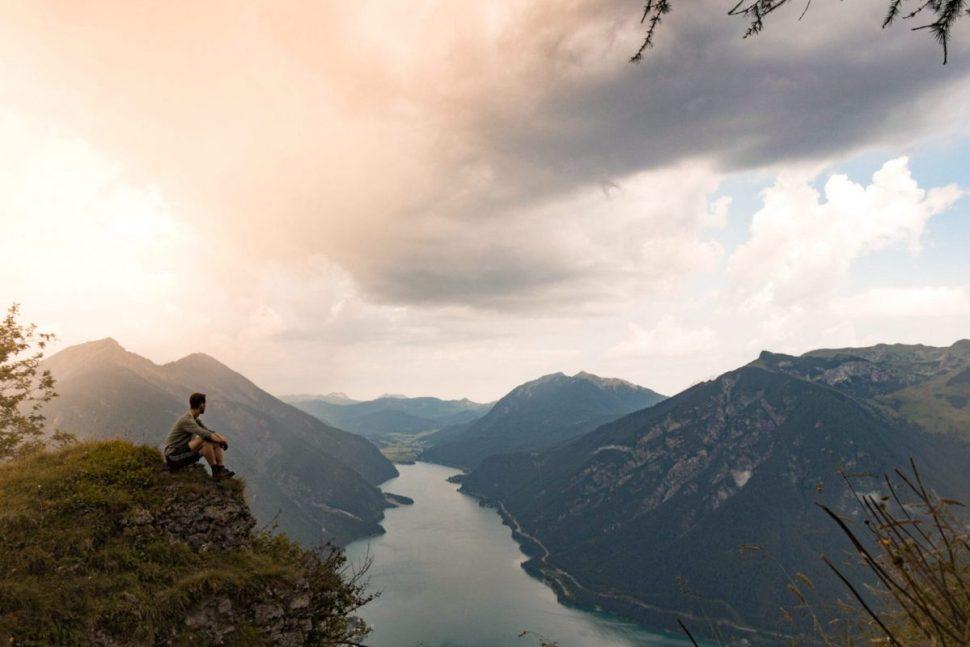 Traumhaftes Lichtspiel kurz vor dem Bärenkopf am Achensee