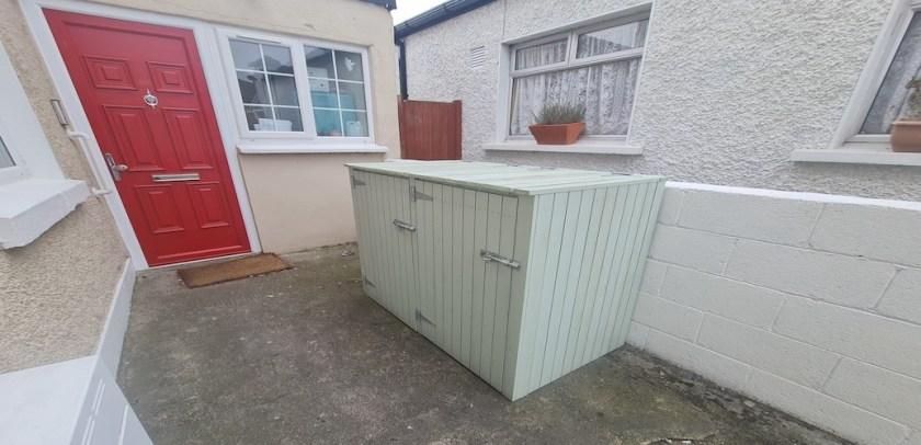 garbage bin shed