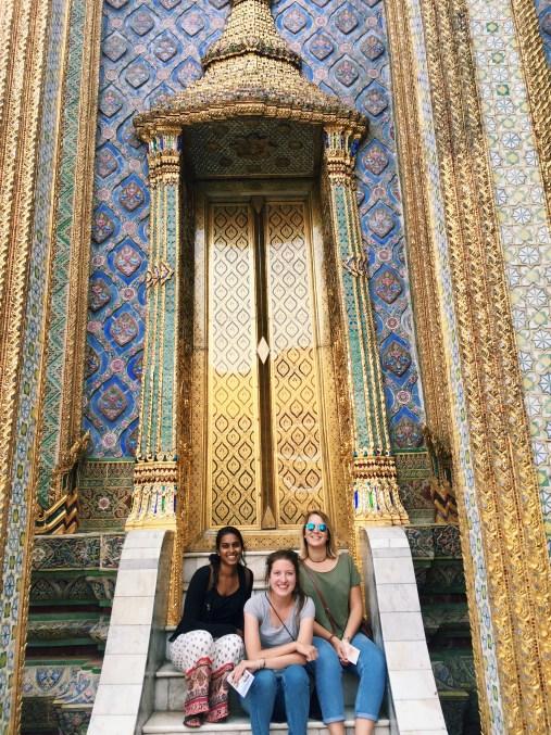 Shreya, Shelby, and me at the Royal Palace in Bangkok!