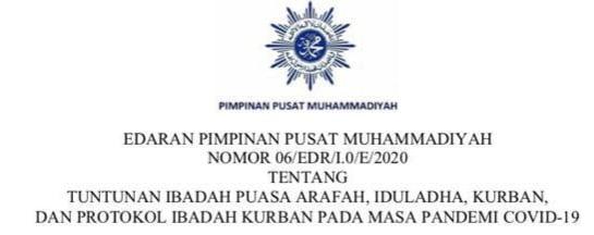 PP Muhammadiyah: Salat Iduladha Di Lapangan Sebaiknya Ditiadakan
