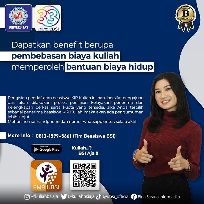 Ayo Daftar Kuliah di Universitas BSI Cibitung Jalur Beasiswa KIP (Kartu Indonesia Pintar)