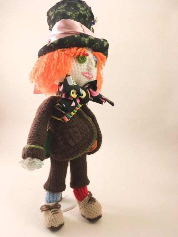 The Mad Hatter Amigurumi Doll.