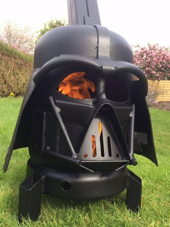 Darth Vader Star Wars Wood Burner Fire Pit.