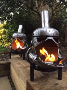 Stormtrooper Star Wars Wood Burner Fire Pit.