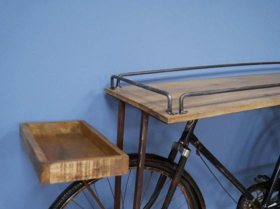 Vintage Bicycle Console Sideboard Table. Created by Sally of Homeware Emporium Co.