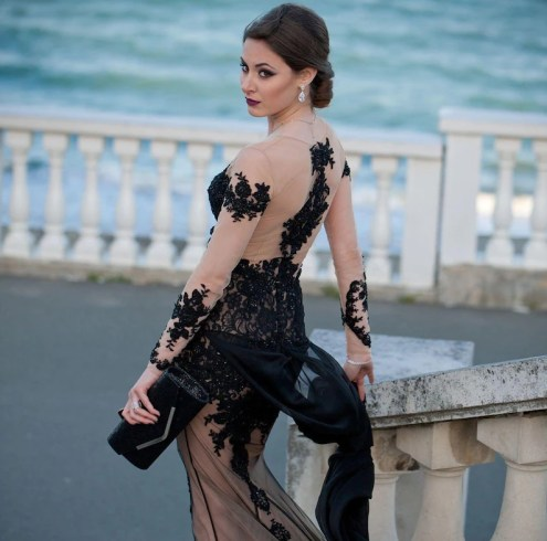 Black Lace Gothic Steampunk Wedding Dress.Created by Dresses Dioma.