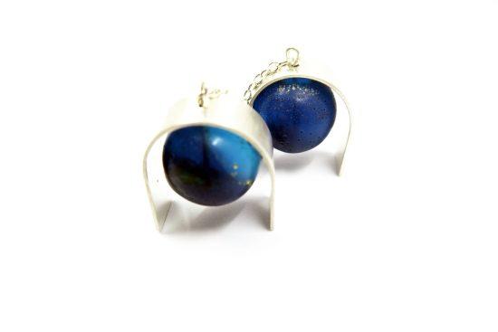 Curvier Earrings – Blue