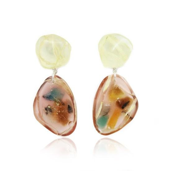 Boas Drop Earrings – Peach