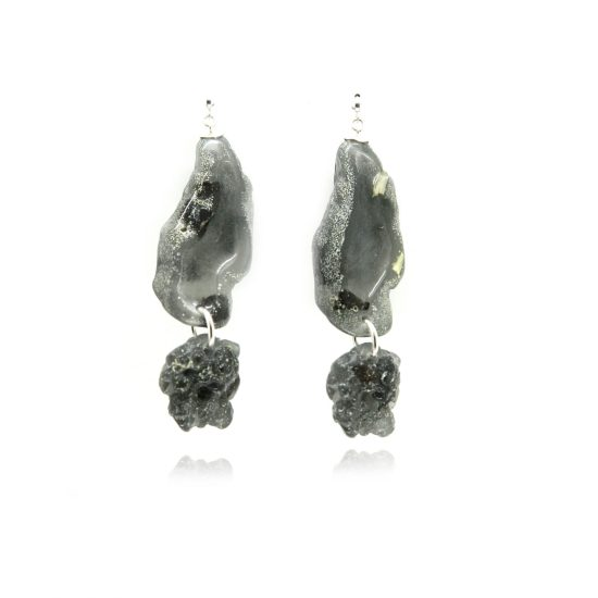 Binet Earrings – Onyx/Silver