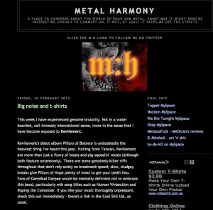 REVILEMENT reviewed at Metal Harmony