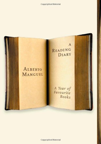 Cover art of Alberto Manguel's book 'A Reading Diary' in the 2006 edition.