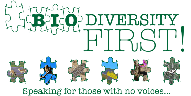 Biodiversity First! Speaking for those with no voices