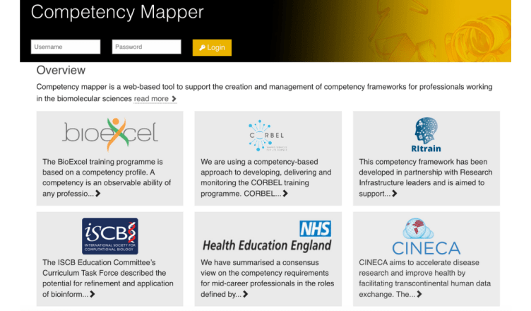 Competency mapper website