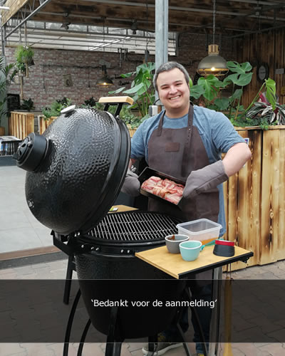 LIVE COOKING BIJ lunchroom & cateringservice BIOEXPRESS in tuincentrum Suidgeest Nieuw-Vennep
