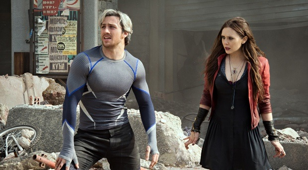 'He's fast, she's weird': AaronTaylor-Johnson and Elizabeth Olsen in Avengers: Age of Ultron.