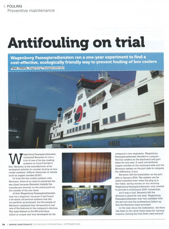 Antifouling on trial_Harsonic_Wagenborg NL_Marine Maintenance_sept-oct 2015_p76